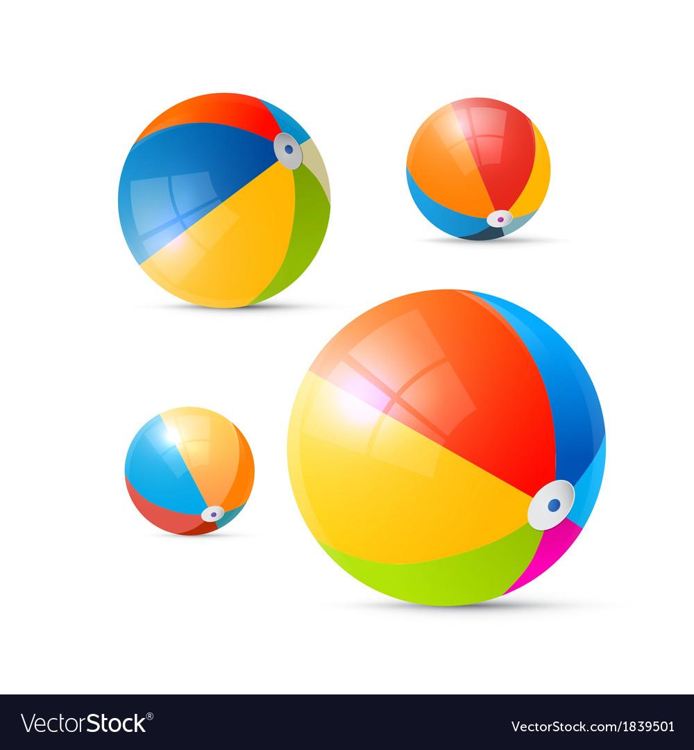 Colorful beach balls vector | Price: 1 Credit (USD $1)