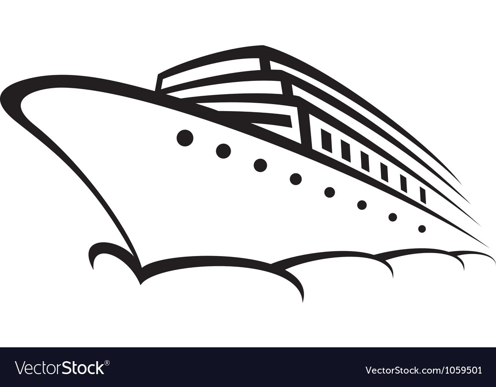 Cruise ship - ocean liner vector | Price: 1 Credit (USD $1)