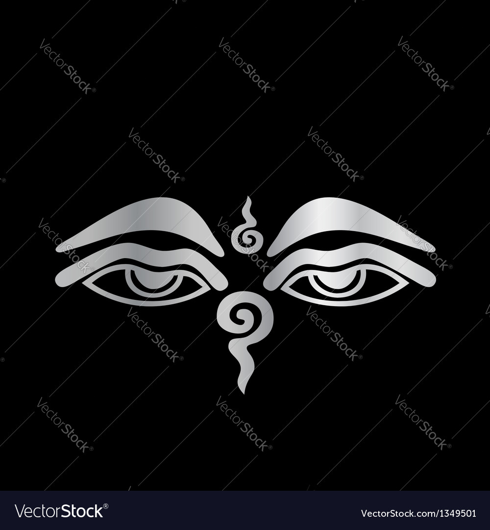 Eye of buddha- buddhism symbol vector | Price: 1 Credit (USD $1)