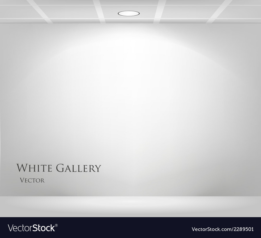 Gallery with empty frame vector | Price: 1 Credit (USD $1)