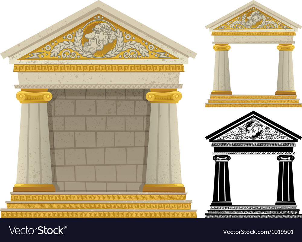 Greek temple vector | Price: 1 Credit (USD $1)