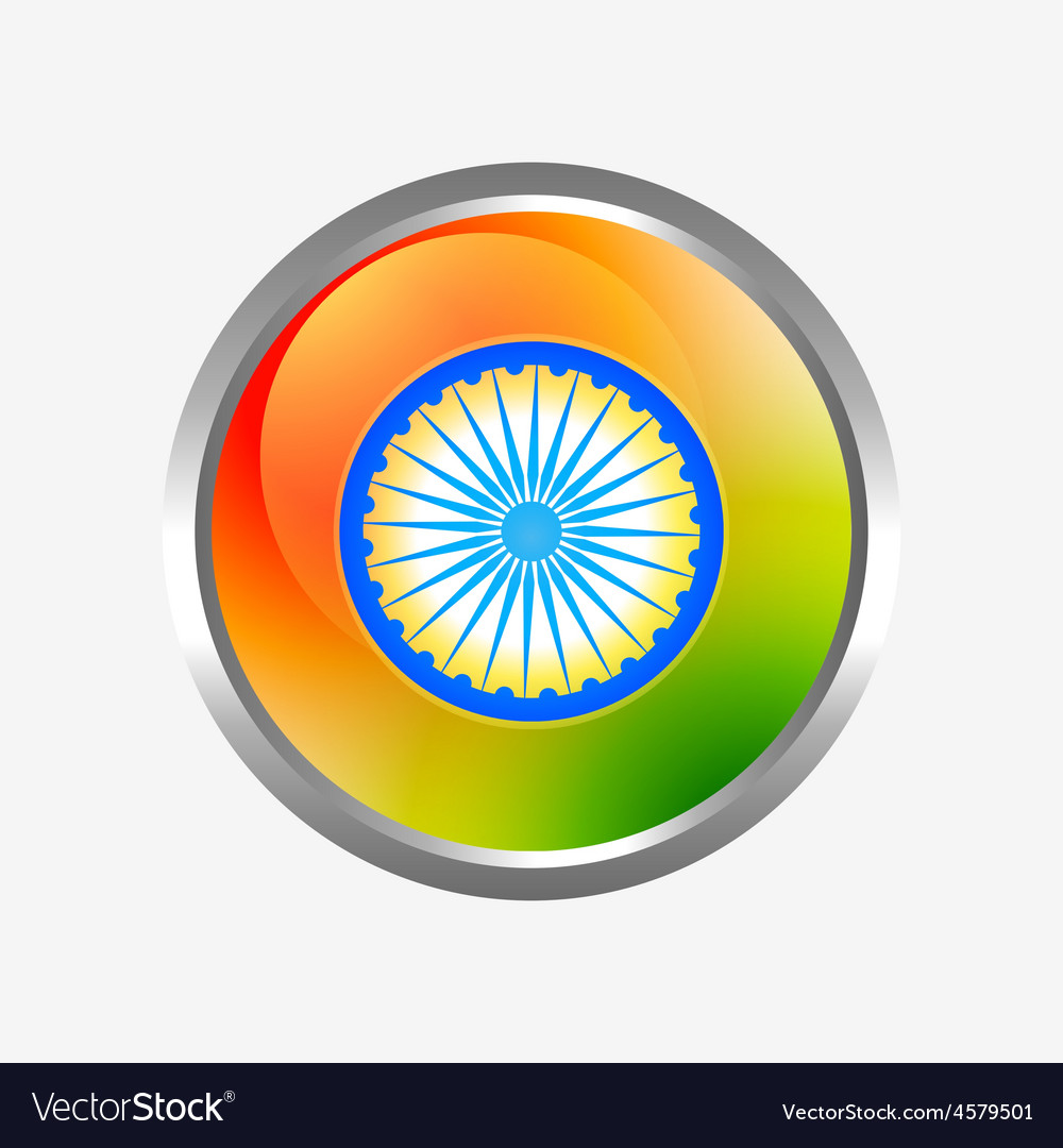 Indian flag label vector | Price: 1 Credit (USD $1)