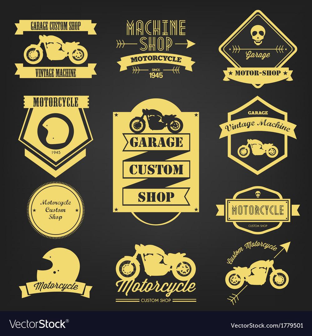 Motorcycle premium vintage label vector | Price: 1 Credit (USD $1)