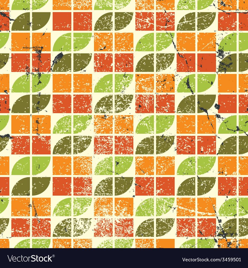 Ornamental worn textile geometric seamless pattern vector | Price: 1 Credit (USD $1)