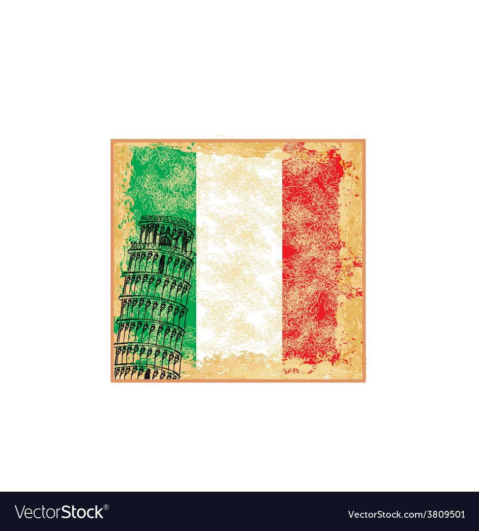 Pisa tower grunge background vector   Price: 1 Credit (USD $1)