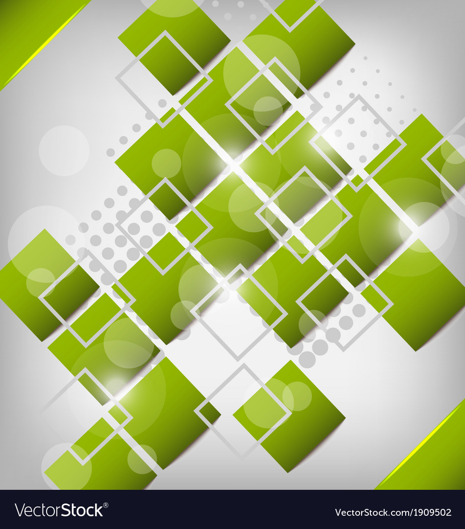 Abstract creative green background with squares vector | Price: 1 Credit (USD $1)