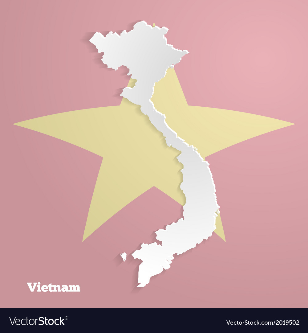 Abstract icon map of vietnam vector | Price: 1 Credit (USD $1)