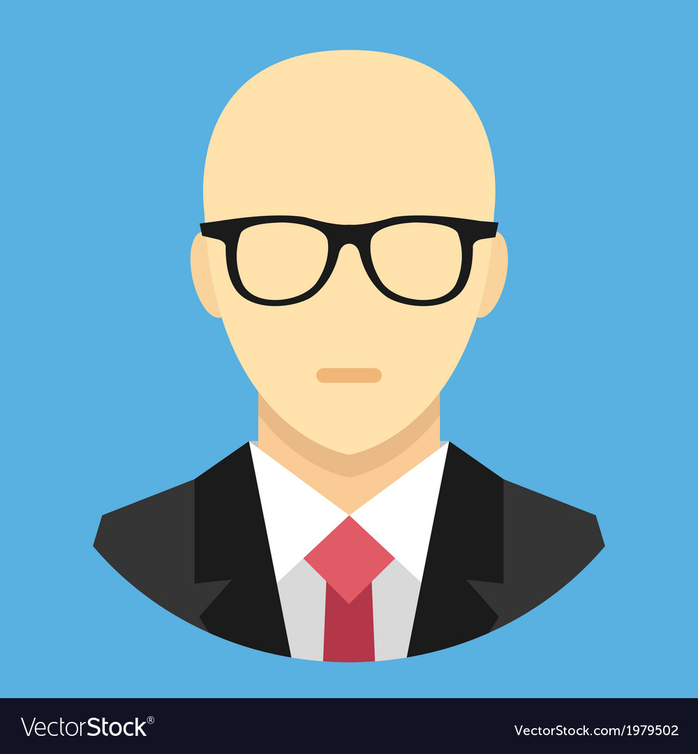 Bald man in business suit icon vector | Price: 1 Credit (USD $1)