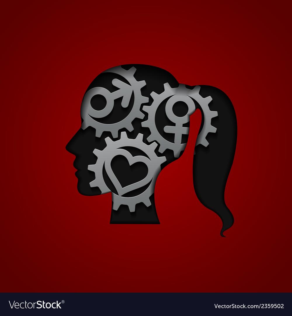 Brain gears vector | Price: 1 Credit (USD $1)