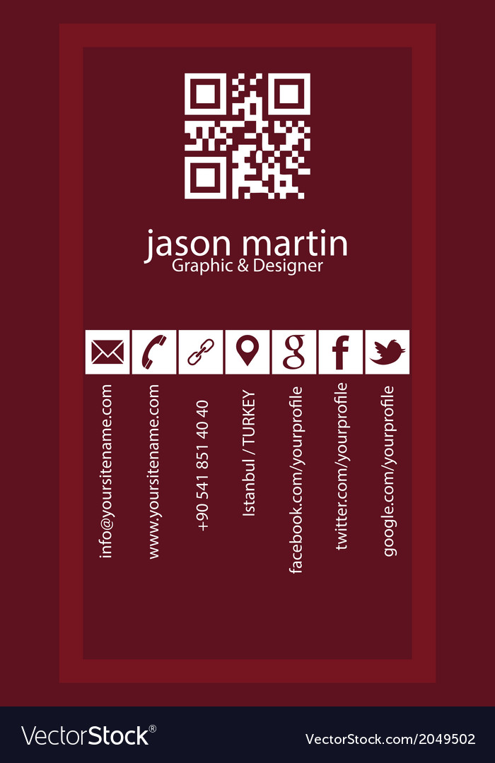 Creative vertical business card vector | Price: 1 Credit (USD $1)