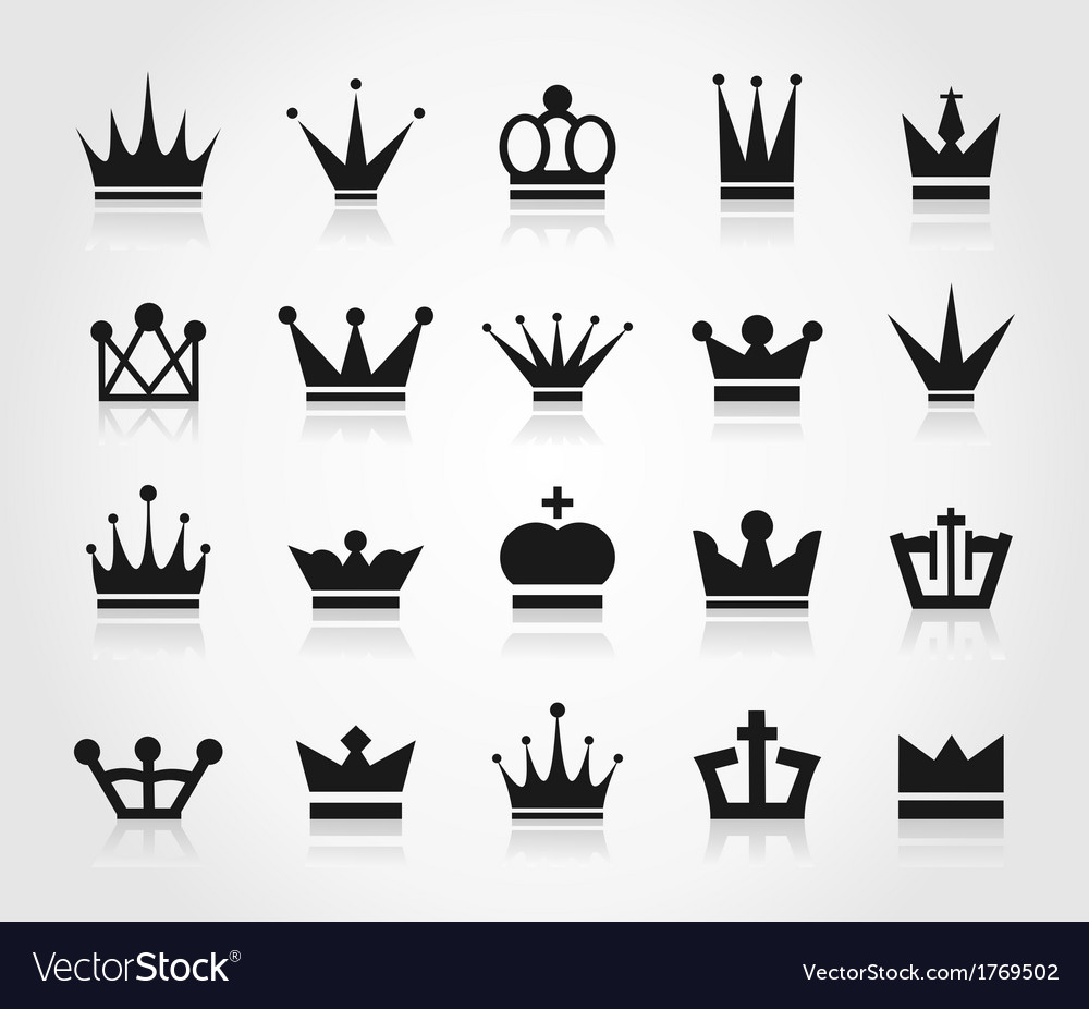 Crown an icon vector | Price: 1 Credit (USD $1)