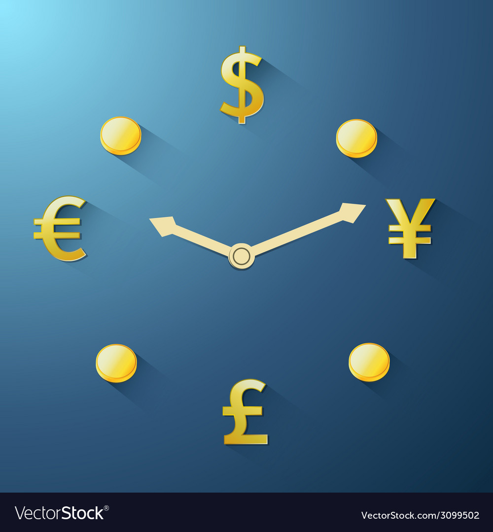 Currency time passing vector | Price: 1 Credit (USD $1)