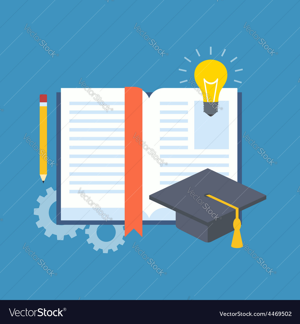 Education learning studying concept flat design vector | Price: 1 Credit (USD $1)