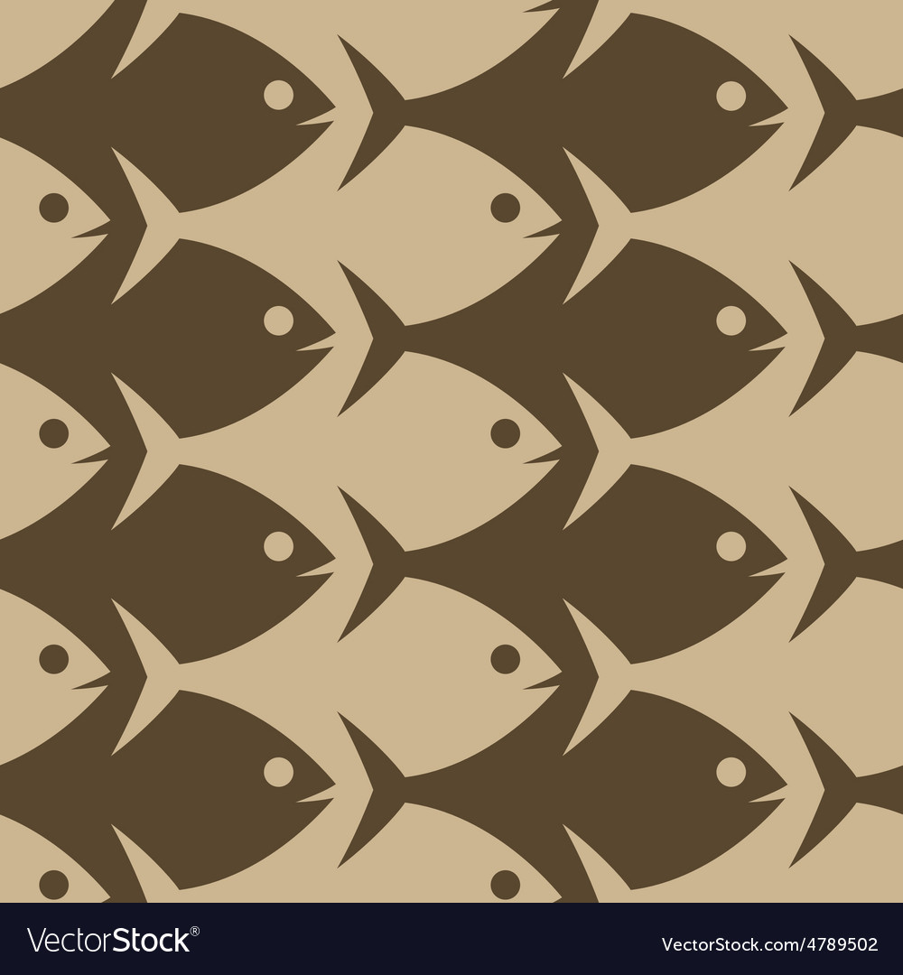 Fish seamless pattern esher style vector | Price: 1 Credit (USD $1)