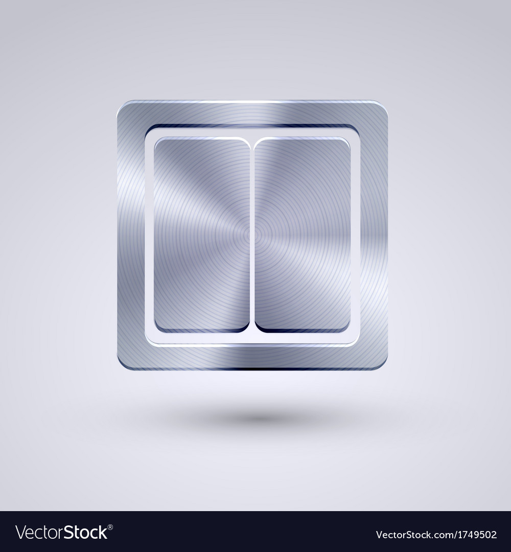 Full metal icon on blue background eps10 vector | Price: 1 Credit (USD $1)