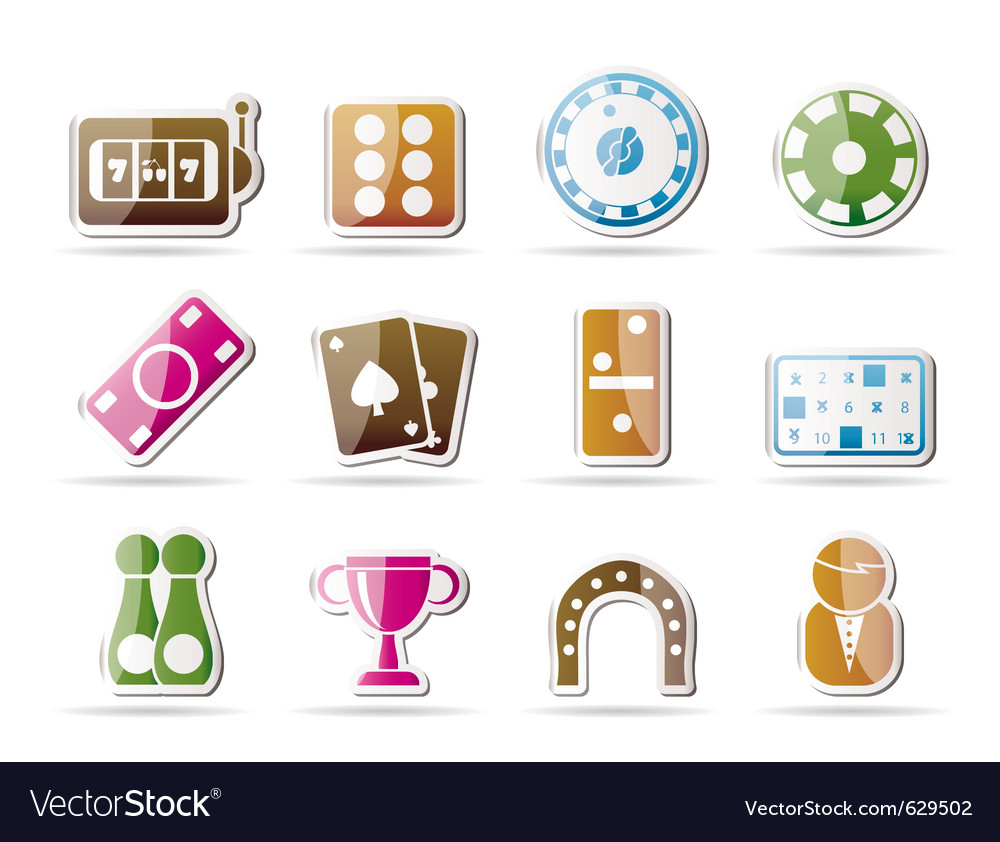 Gambling and casino icons vector | Price: 1 Credit (USD $1)
