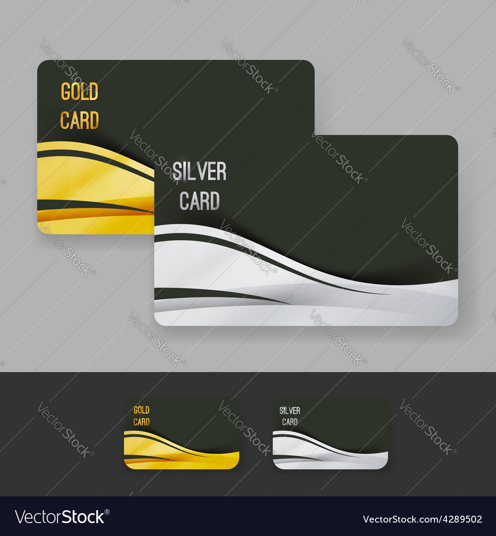 Golden and silver membership luxury card design vector