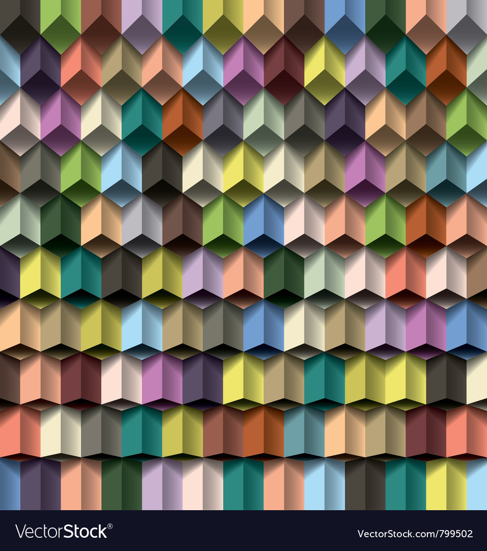 Multicolor cube background vector | Price: 1 Credit (USD $1)