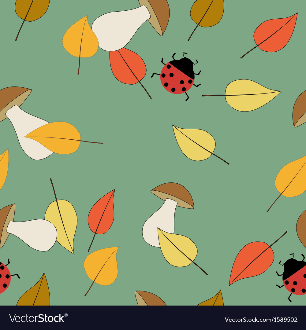 Pattern seamless autumn vector | Price: 1 Credit (USD $1)