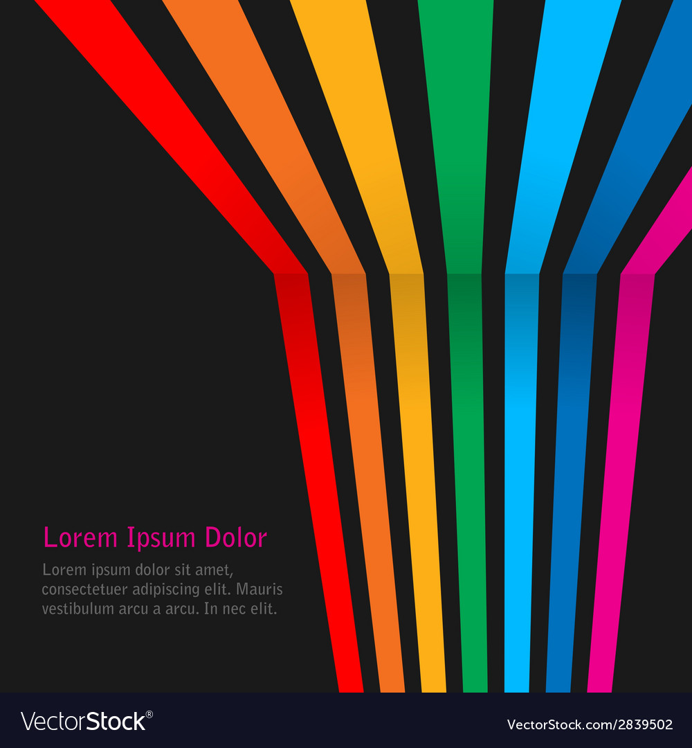 Rainbow stripes on dark background vector | Price: 1 Credit (USD $1)