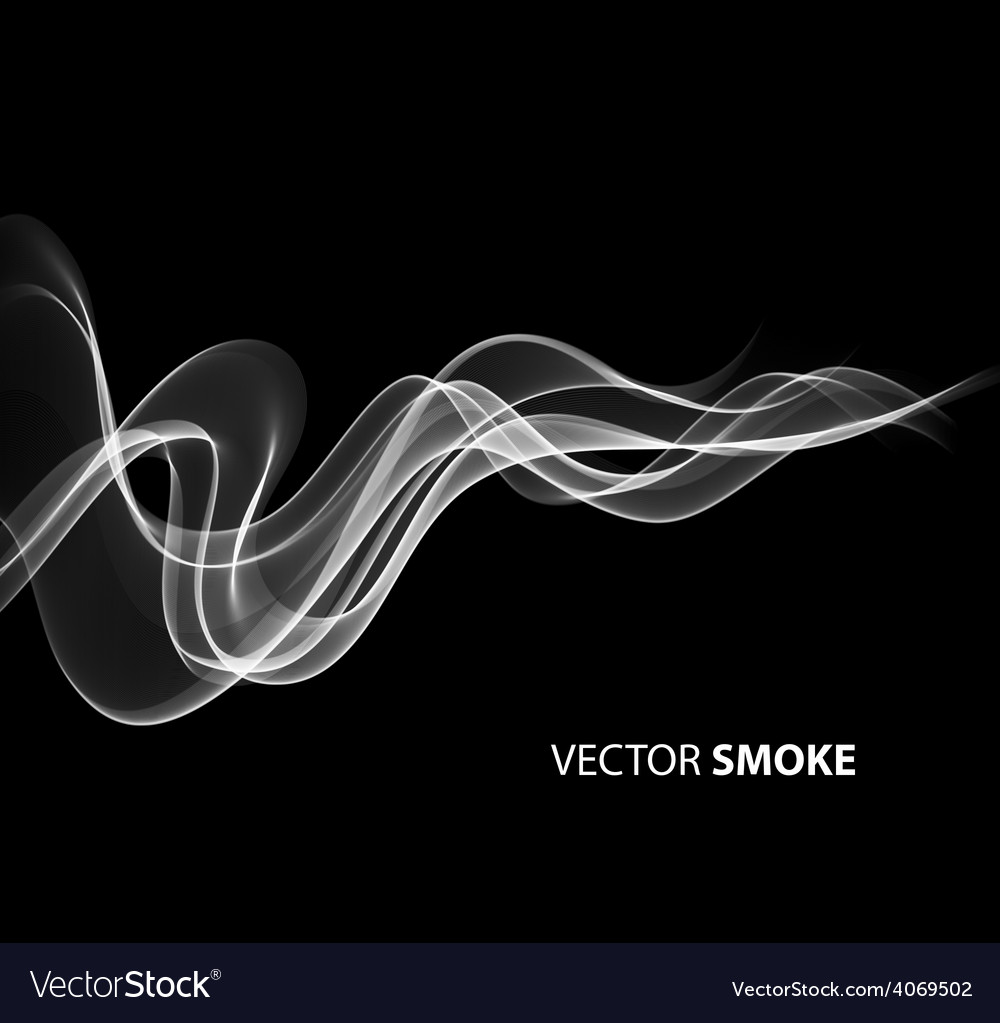 Realistic smoke on black background vector | Price: 1 Credit (USD $1)