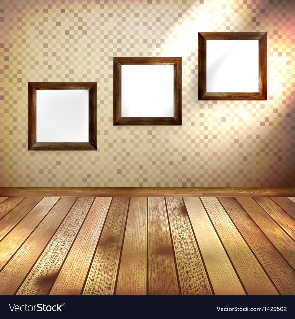 Retro room with three frames eps 10 vector | Price: 1 Credit (USD $1)