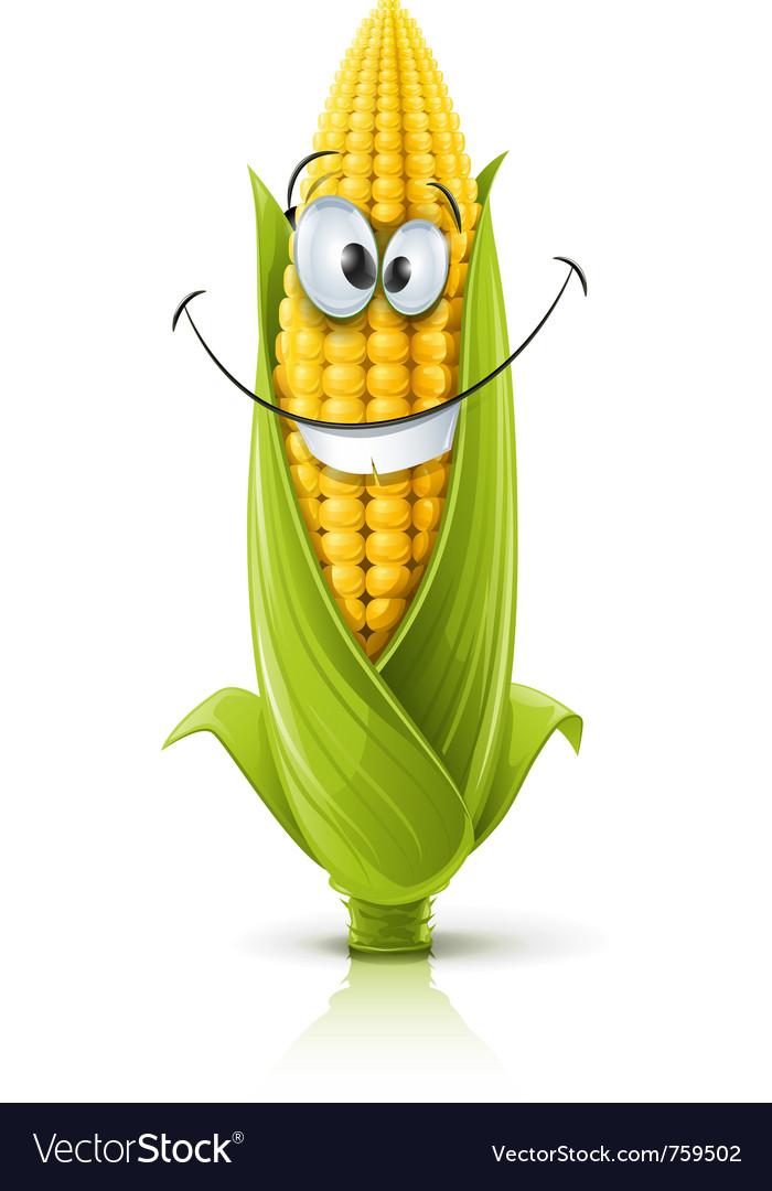 Smiling corncob vector | Price: 3 Credit (USD $3)