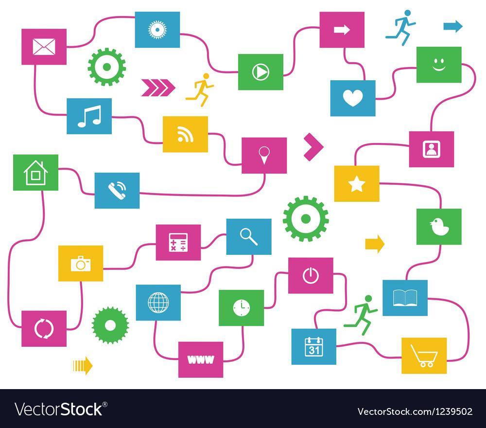 Social media elements vector   Price: 1 Credit (USD $1)