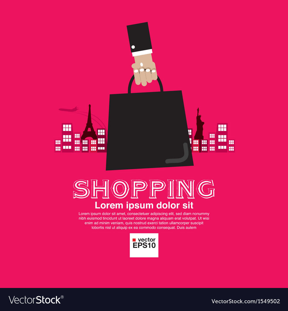 Worldwide shopping tourist vector | Price: 1 Credit (USD $1)