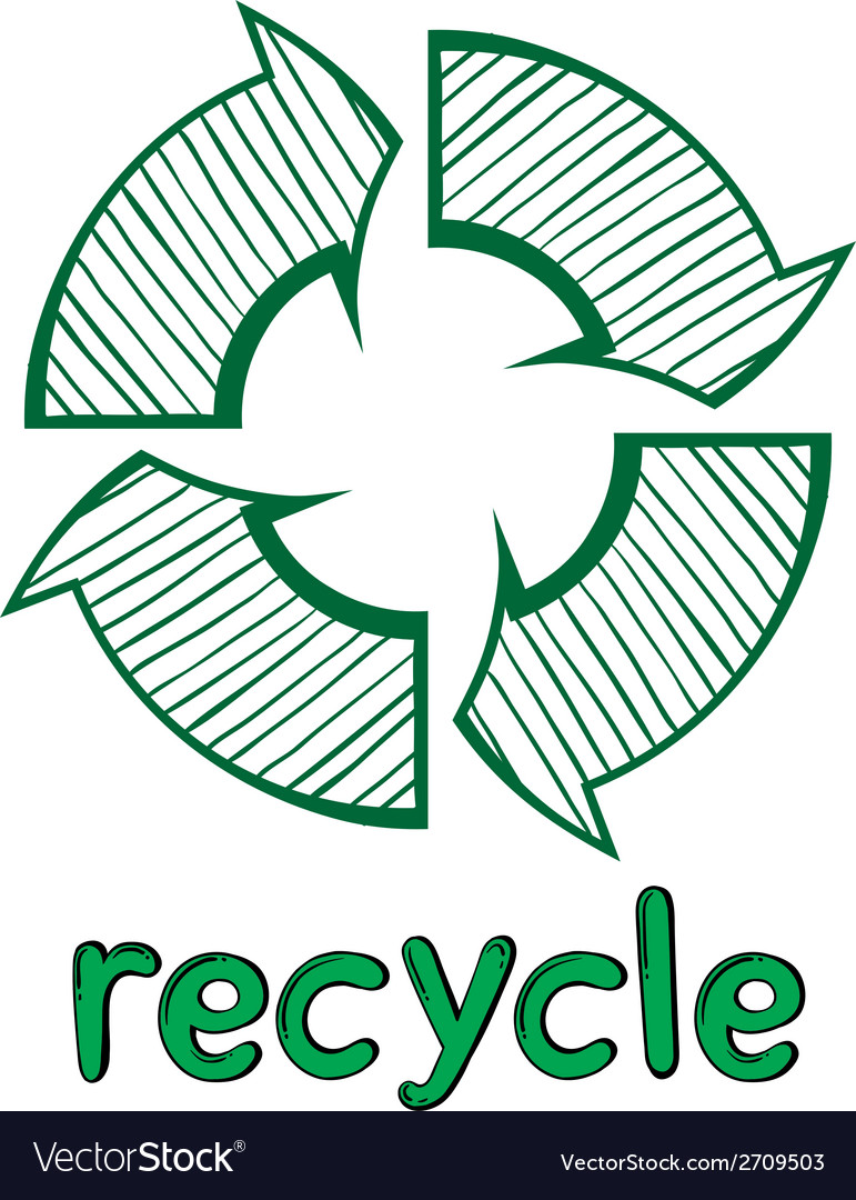 A recycle symbol vector | Price: 1 Credit (USD $1)