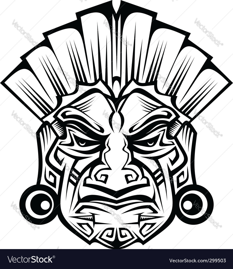 Ancient mask vector | Price: 1 Credit (USD $1)