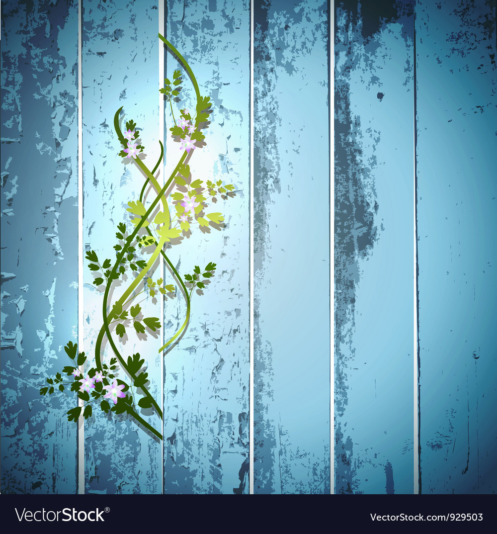 Blue summer fence vector | Price: 1 Credit (USD $1)