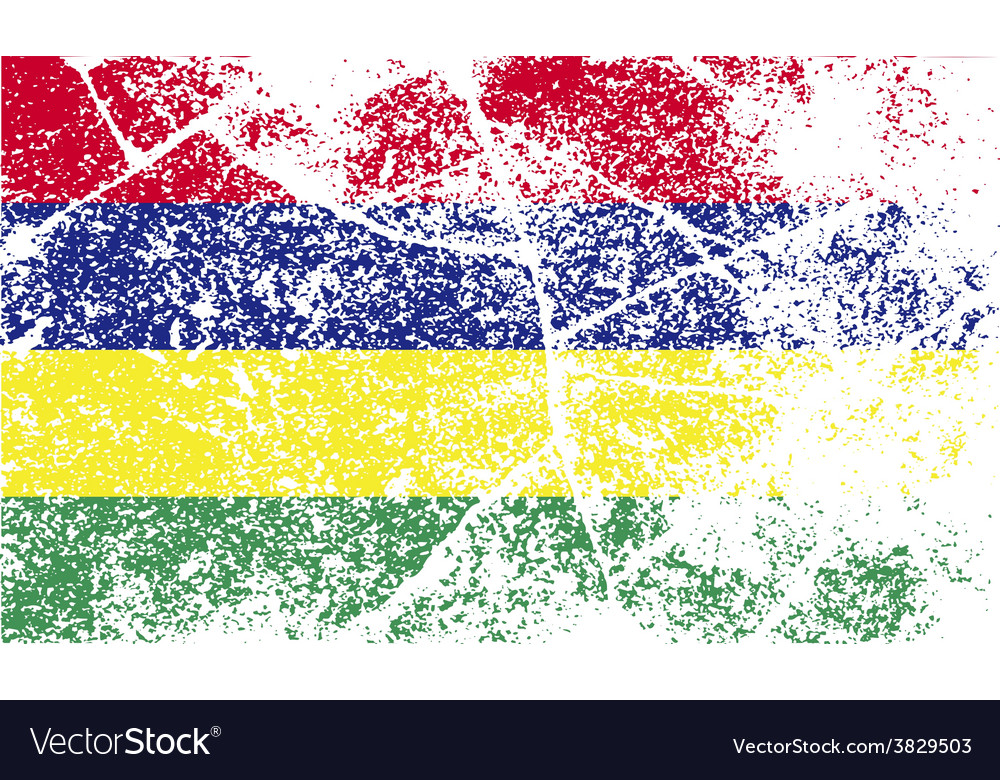 Flag of mauritius with old texture vector   Price: 1 Credit (USD $1)