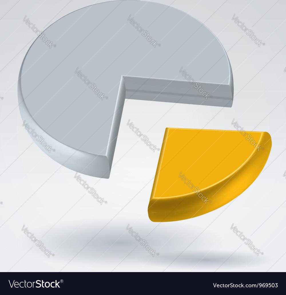 Golden quarter vector | Price: 1 Credit (USD $1)