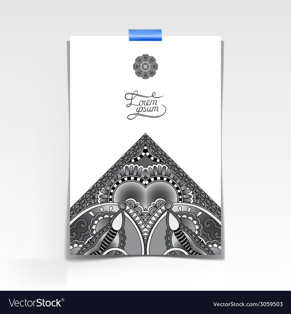 Grey decorative sheet of paper with oriental vector   Price: 1 Credit (USD $1)