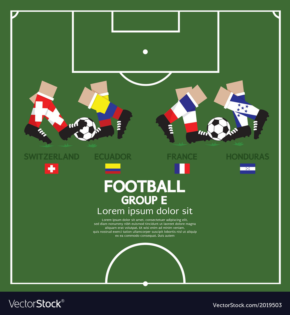 Group e 2014 football tournament vector | Price: 1 Credit (USD $1)