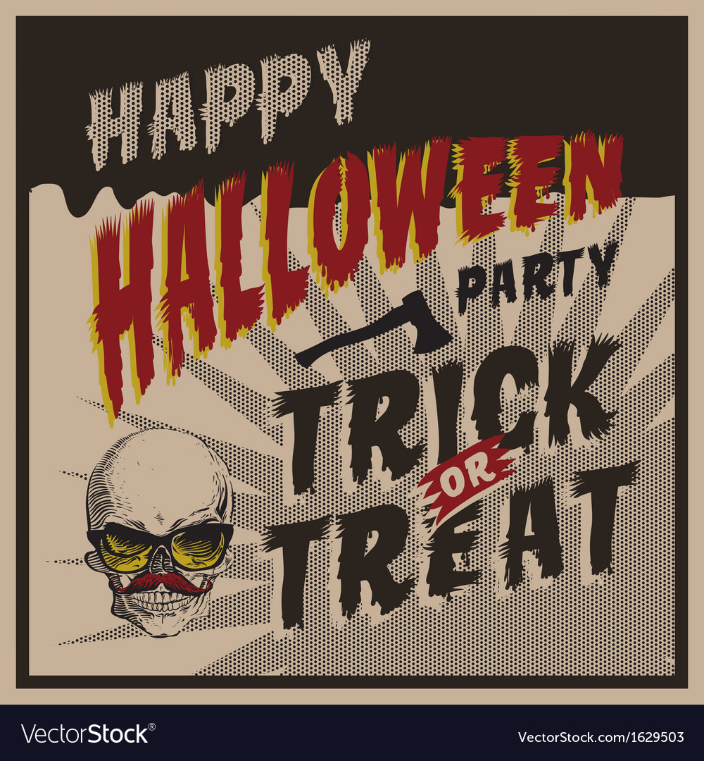 Halloween party design template for vector | Price: 1 Credit (USD $1)