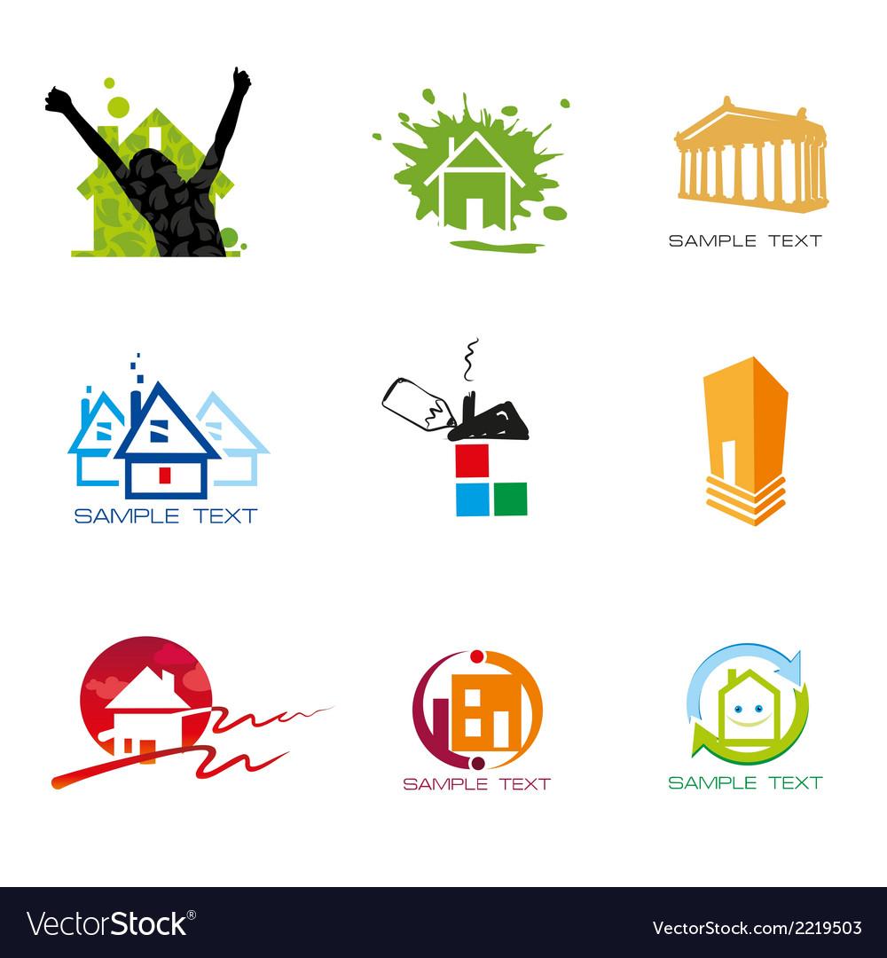 Logo element real estate vector | Price: 1 Credit (USD $1)