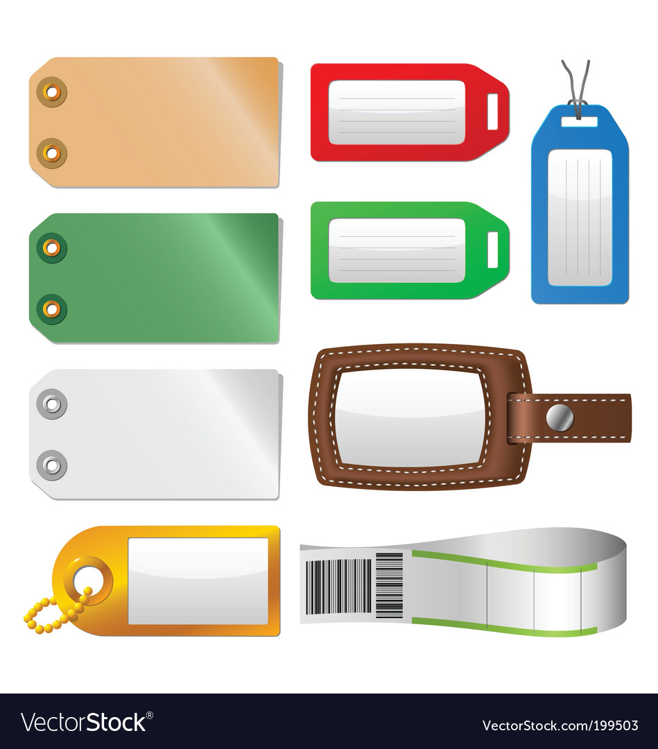 Luggage tags vector | Price: 1 Credit (USD $1)
