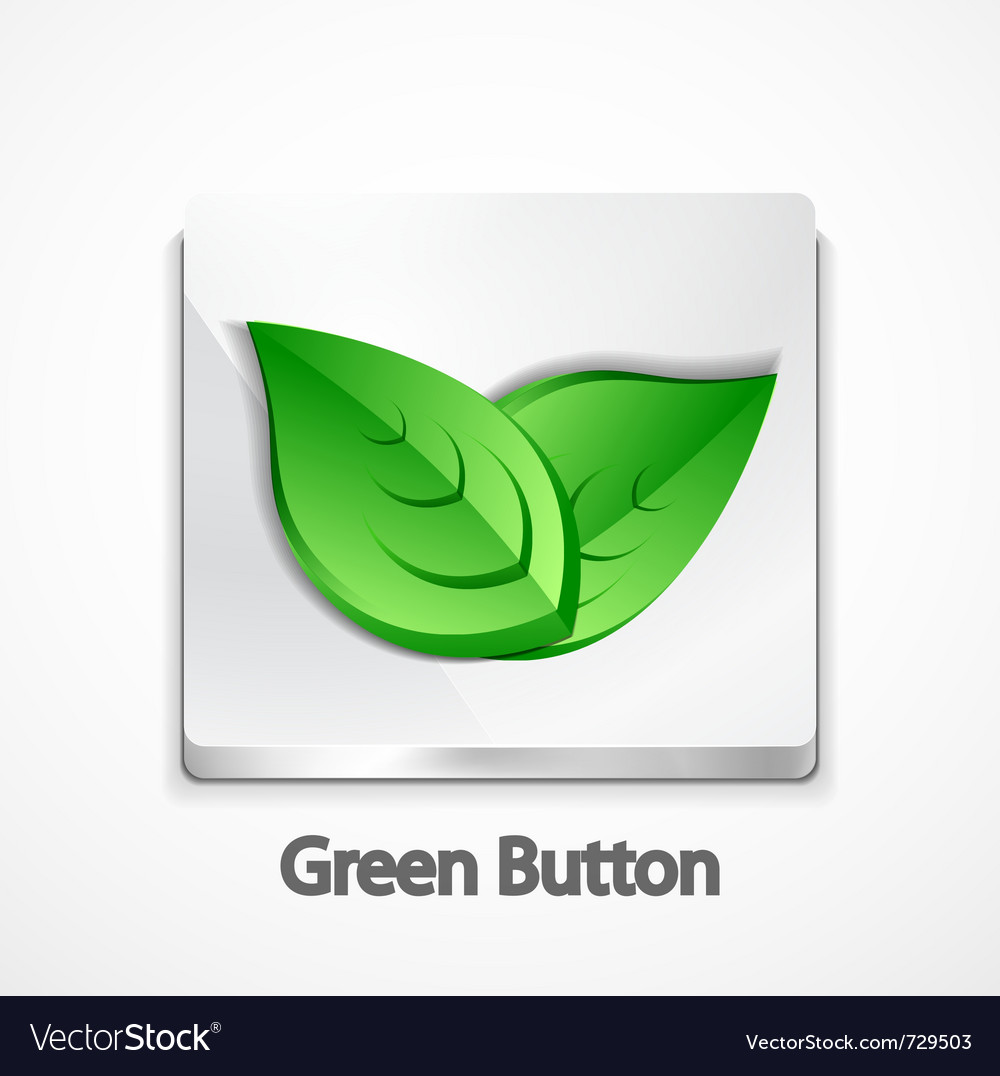 Nature concept on button vector | Price: 1 Credit (USD $1)
