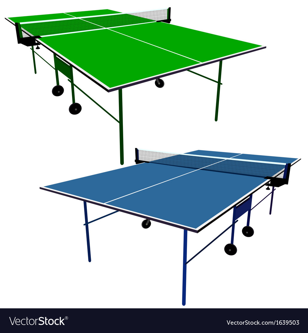 Ping pong blue and green table tennis vector | Price: 1 Credit (USD $1)