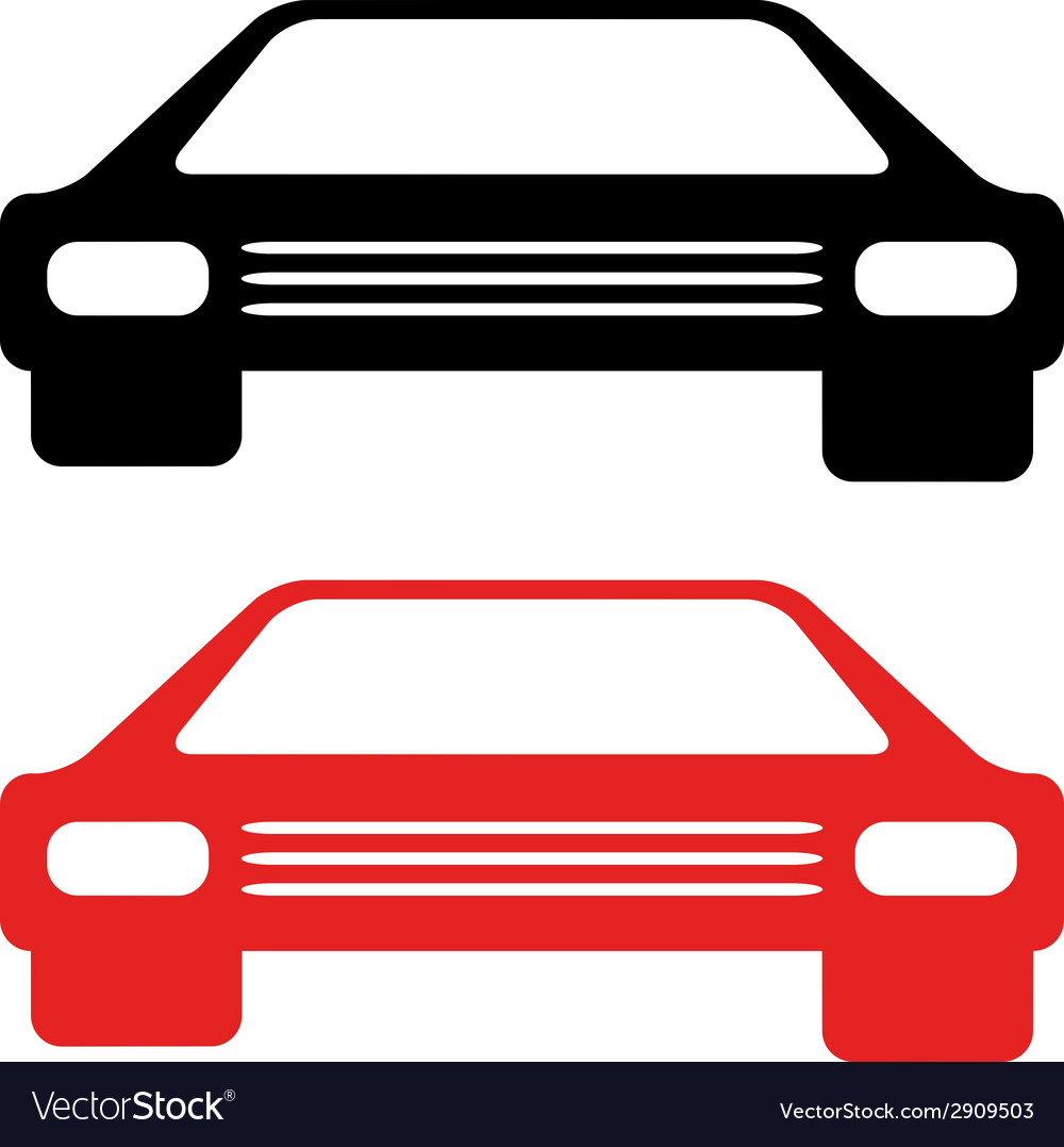 Retro american car symbol vector | Price: 1 Credit (USD $1)