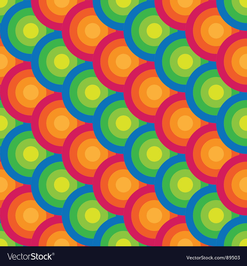 Seamless circle background vector | Price: 1 Credit (USD $1)