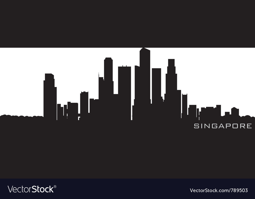 Singapore asia skyline detailed silhouette vector | Price: 1 Credit (USD $1)