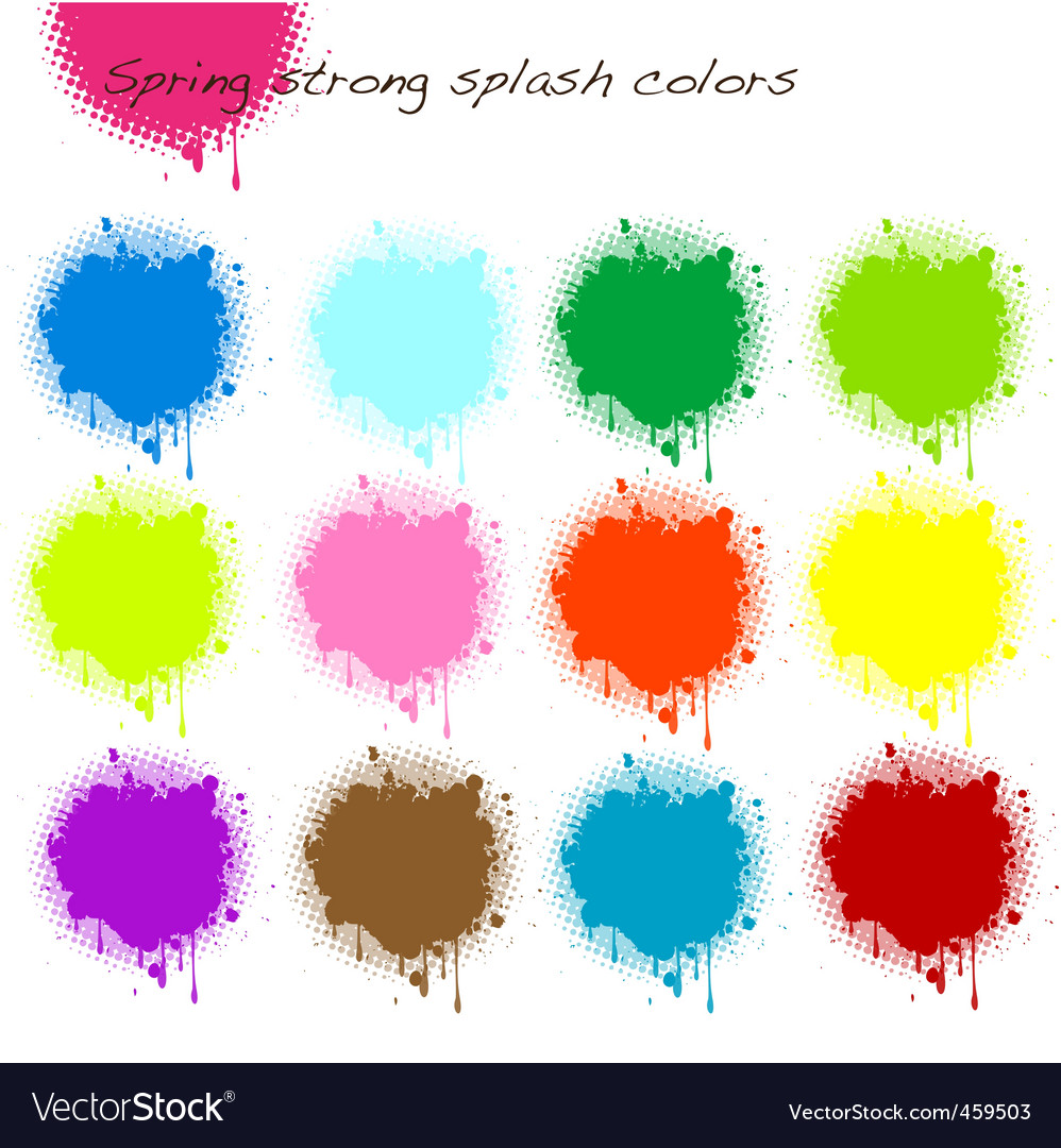 Spring strong splash colors vector | Price: 1 Credit (USD $1)