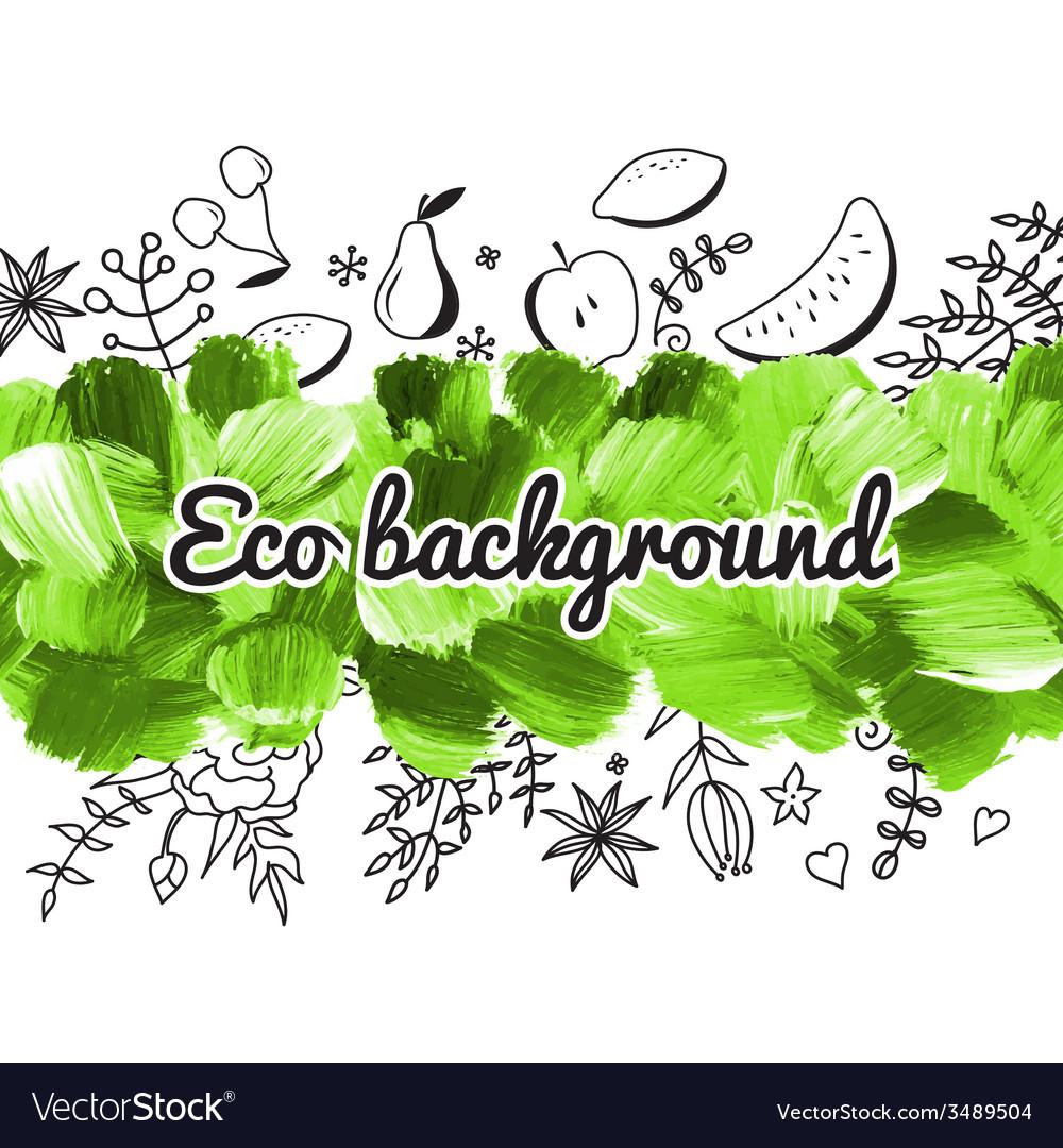 Acrylic eco background vector | Price: 1 Credit (USD $1)