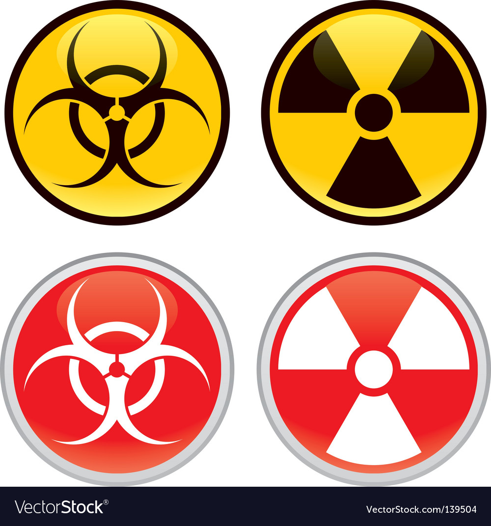 Biohazard and radioactive warning signs vector | Price: 1 Credit (USD $1)