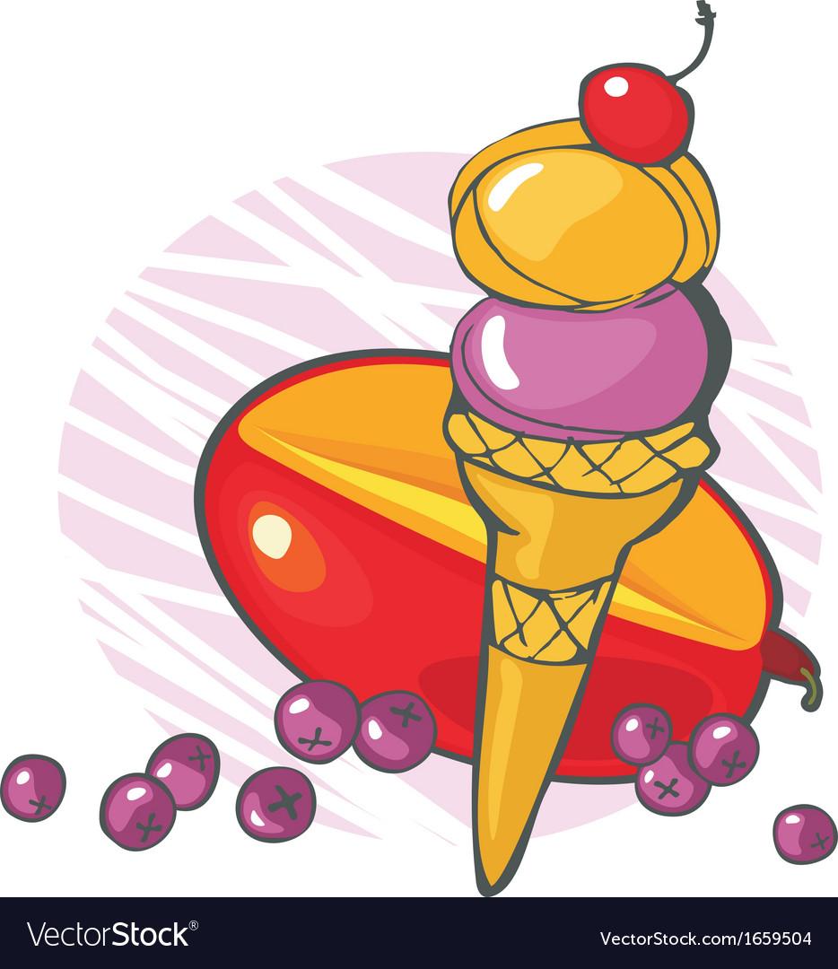 Blueberry mango icecream vector | Price: 1 Credit (USD $1)