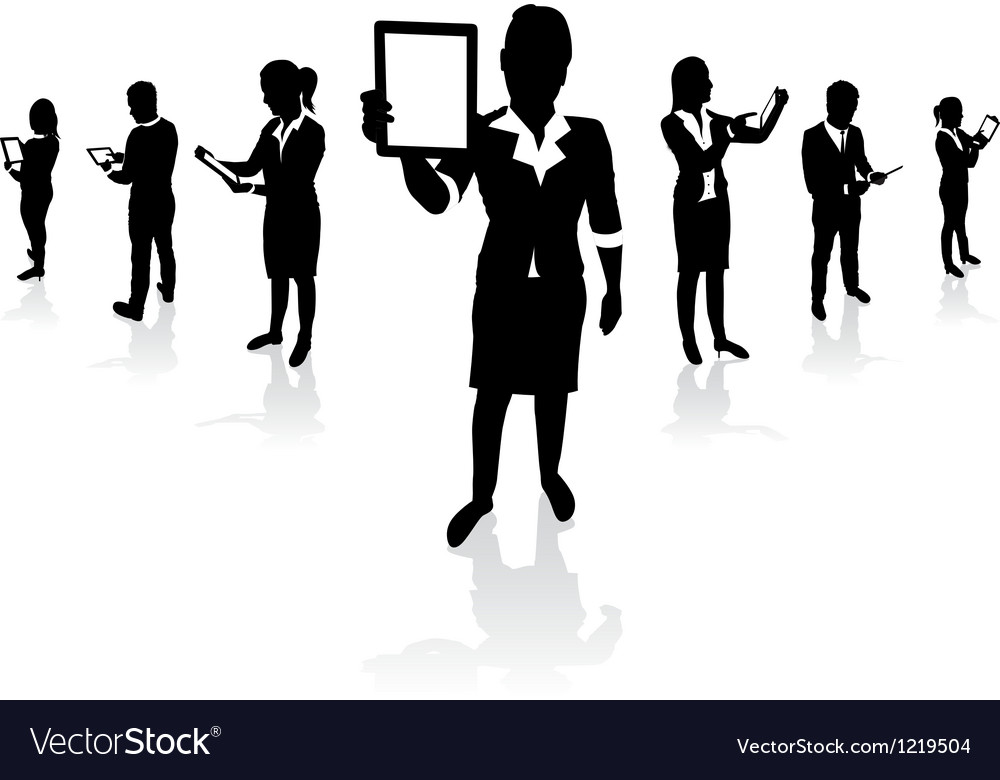 Business people tablets vector | Price: 1 Credit (USD $1)