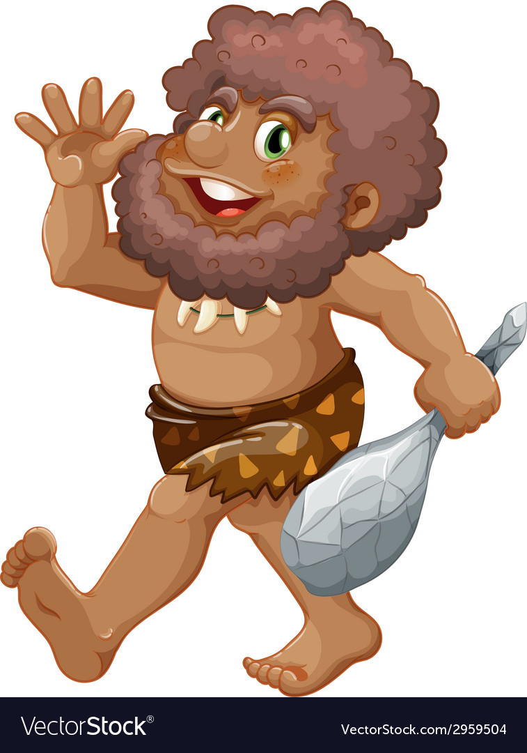 Caveman vector | Price: 1 Credit (USD $1)